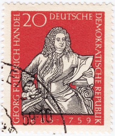 GDR - CIRCA 1959 : stamp printed in GDR (ex East Germany) shows George Frideric Handel, circa 1959