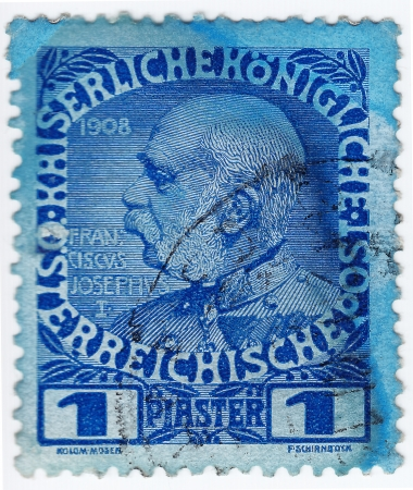 AUSTRIA - CIRCA 1908 : stamp printed in Austria, shows Franz Joseph I of Austria, circa 1908  Stock Photo - 16284363