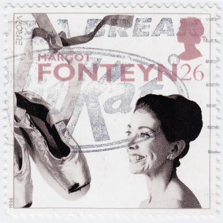 UK - CIRCA 1996 : stamp printed in UK shows Margot Fonteyn was an English great ballerina of the 20th century, circa 1996 Stock Photo - 16284308