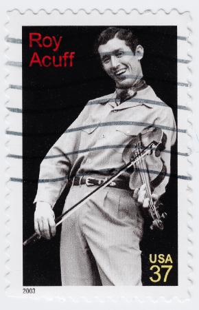 USA - CIRCA 2003 : stamp printed in USA shows Roy Acuff American country music singer, circa 2003 Stock Photo - 16284376