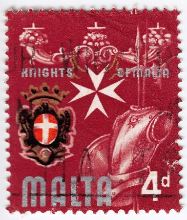 MALTA - CIRCA 1974: stamp printed in Malta shows a armor of Knights of Malta, circa 1974 Stock Photo - 16391468