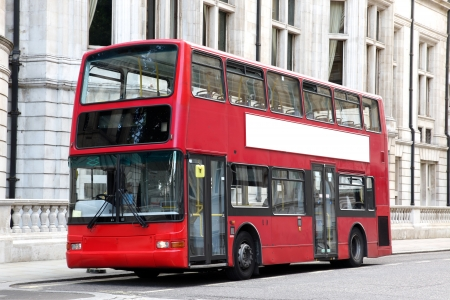 decker: traditional London Double decker red bus