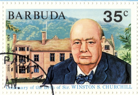 winston: stamp with Winston Churchill