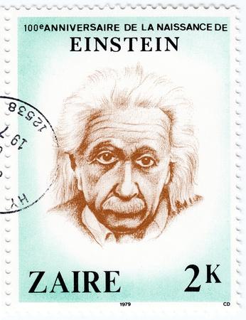 ZAIR - CIRCA 1979   famous physicist of Albert Einstein