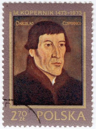 POLAND - CIRCA 1973 : Stamp printed in Poland showing Nicolaus Copernicus, circa 1973