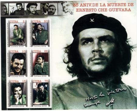 che guevara: vintage cuba stamp with Ernesto Che Guevara Editorial