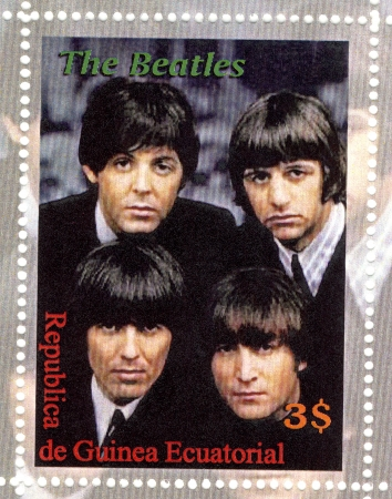 stamp with famous group The Beatles Stock Photo - 16507519
