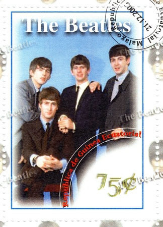 stamp with famous music group The Beatles Stock Photo - 16507513