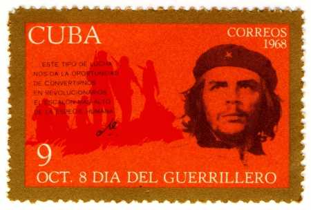 castro: CUBA  CIRCA 1968   Ernesto Che Guevara- legendary guerrilla Editorial