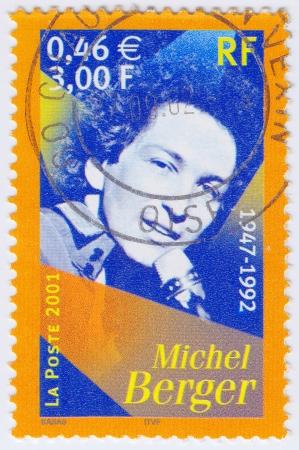 berger: FRANCE - CIRCA 2001: stamp printed in France shows Mishel Berger, circa 2001