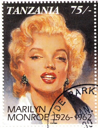 vintage stamp with Marilyn Monroe