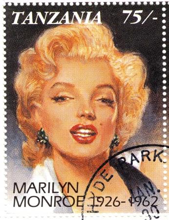 monroe: vintage stamp with Marilyn Monroe