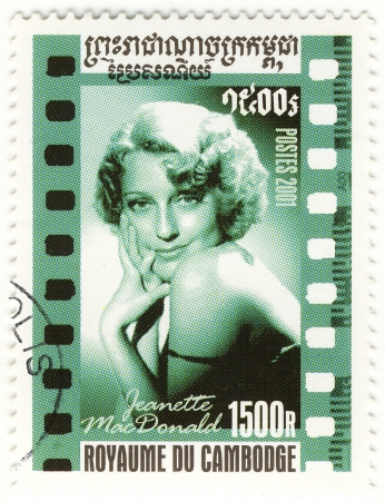 macdonald: stamp with great american singer and actress Jeanette MacDonald Editorial