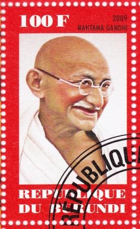 BURUNDI - CIRCA 2009  stamp printed in Burundi with Mahatma Gandhi , circa 2009