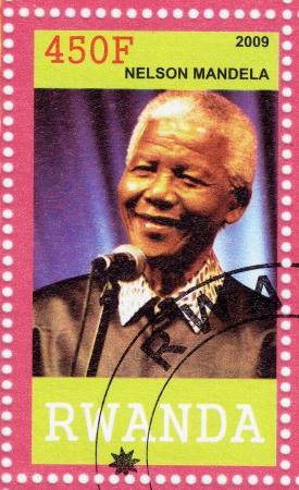 RWANDA - CIRCA 2009   Nelson Mandela - former President of South Africa, has received 1993 Nobel Peace Prize, circa 2009 Editorial