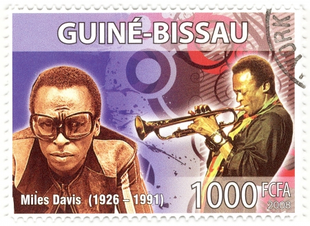 stamp with famous musician Miles Davis
