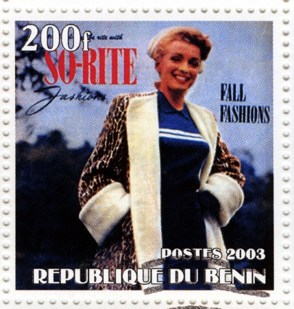 BENIN - CIRCA 2003 : stamp printed in Benin showing Marilyn Monroe popular actress in 1960s, circa 2003