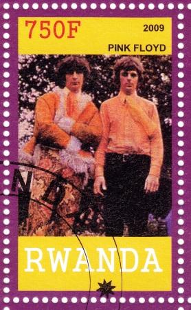 pink floyd: RWANDA - CIRCA 2009 : Nick Mason (L) and Richard Wright from Pink Floyd - 1960s famous musical rock group, circa 2009 Editorial