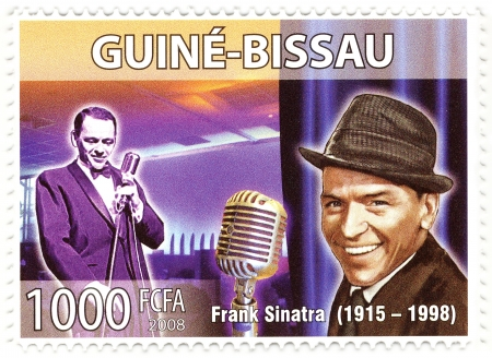 stamp with famous singer Frank Sinatra Stock Photo - 16586049
