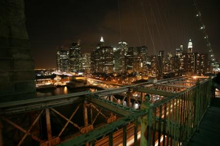 view to Manhattan from Brooklyn bridge Stock Photo - 16643323