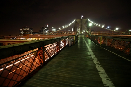 night view Manhattan and Brooklyn bridge Stock Photo - 16643308