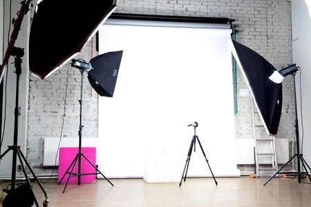 interior of a modern photo studio