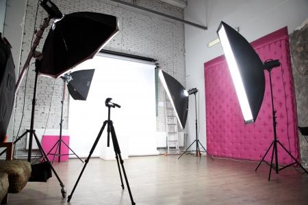 Innenraum eines modernen Fotostudio Standard-Bild - 16883440