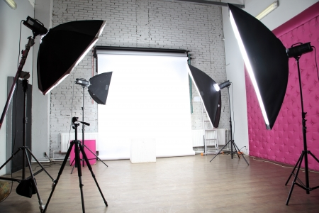 studio photo: interior of a modern photo studio