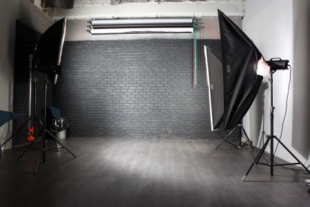 studio photograph: interior of a modern photo studio