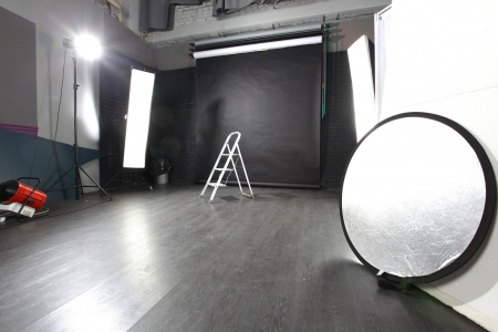 interior of a modern photo studio photo