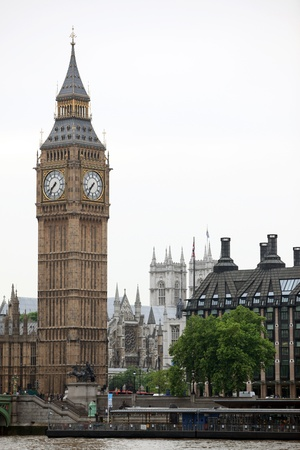 Big Ben and Westminster Abbey, London, UK photo