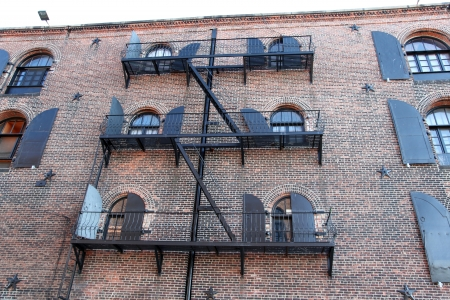 fire escape of an apartment building in New York city  photo