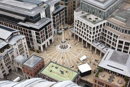 London with Paternoster Square from St Paul's Cathedral, UK photo