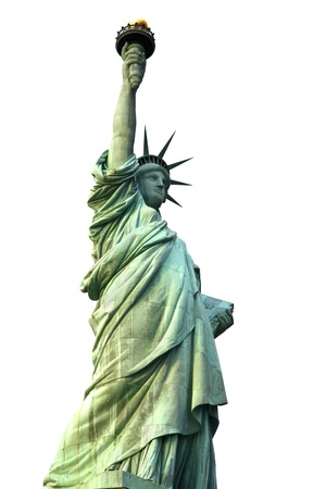 NY Statue of Liberty isolated on white