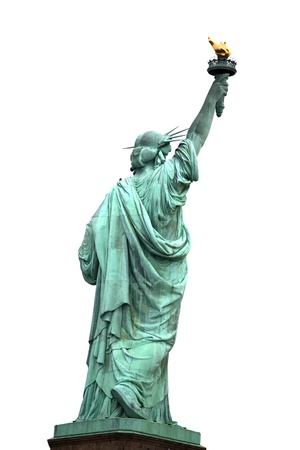 NY Statue of Liberty isolated on white photo