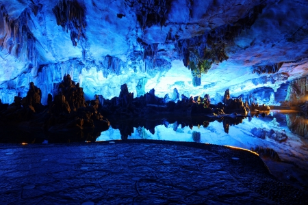 Reed Flute Caves in Guilin, Guangxi Provine, China Stock Photo - 18226654