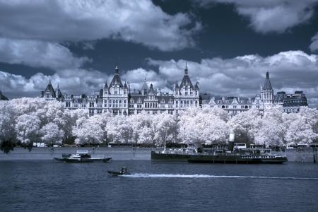 Riverside at Thames river in London, UK Stock Photo - 18702378