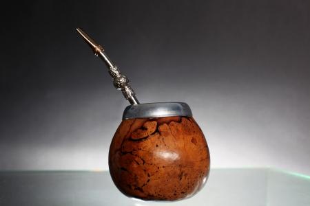 Argentinian Yerba Mate tea attributes - calabash and bombilla  photo