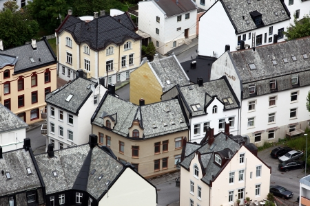 alesund: Alesund - is know as the Art Deco city of Norway due to it Stock Photo