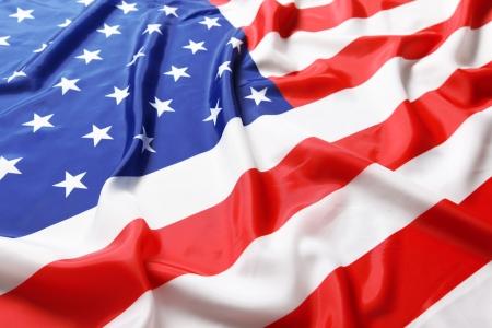 Closeup der amerikanischen Flagge Standard-Bild - 19157222