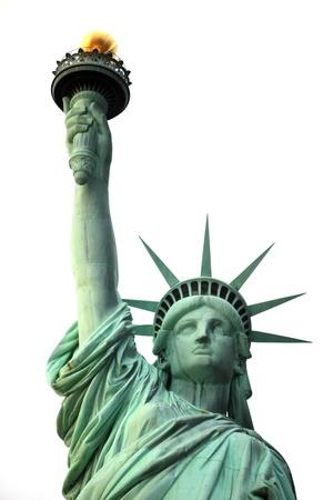 lady liberty: Nueva York Estatua de la Libertad aislado en blanco Foto de archivo