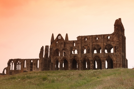 whitby: Whitby Abbey castle, ruined Benedictine abbey, Yorkshire, England, UK Editorial
