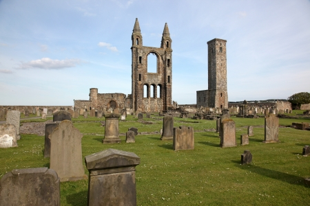 St Andrews cathedral grounds, Scotland, UK