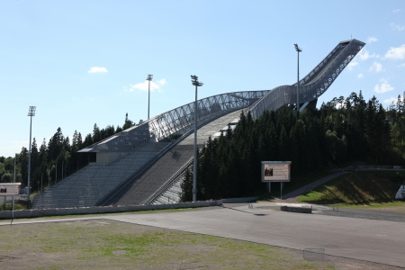 Holmenkollen ski jump hill Oslo, Norway  Stock Photo - 21839673