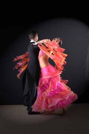 Latino dancers in ballroom  photo