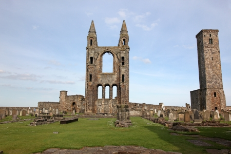 St Andrews cathedral grounds, Scotland, UK photo