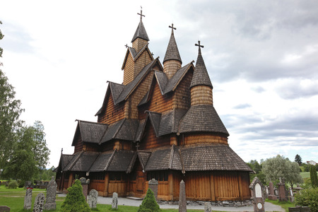 Heddal stavkirke in Norway photo
