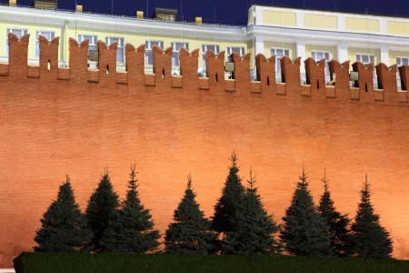 the senate: Kremlin wall and Senate in Red Square, Moscow, Russia