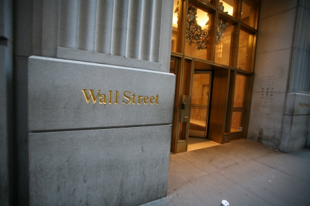 Wall street in New York, USA