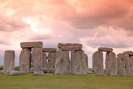 estimated: Sundiwn at Stonehenge historic site in England with origins estimated at 3,000BC